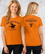 Kuakuayu HJN obóz pół krwi T-shirt Percy Jackson kostium na Halloween 2 jednostronne drukuj kobiety dopasowane panie, rozmiar unisex koszule