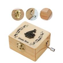 Vintage Hand Crank Music Box Classic Handmade Engraved Carve
