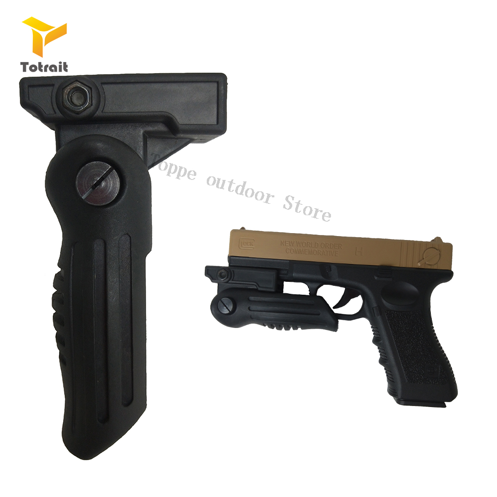 TOtrait Tactical Polymer Airsoft Pistol Grip For QD Picatinny Rail Vertical Grip Folding Bipod Grip Handle Foregrip