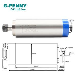 Image 2 - G PENNY 2.2kw er20 refrigerado a água do motor 80x230mm do eixo do cnc com precisão alta 0.01mm dos rolamentos de 4 pces para a máquina de trituração da gravura