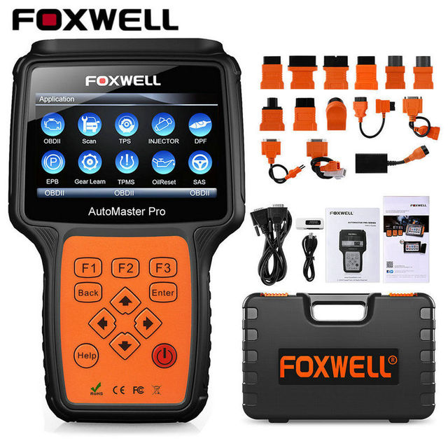FOXWELL NT644 Pro All System OBD OBD2 Car Diagnostic Tool Automotive Scanner ABS SRS Transmission Oil Reset DPF EPB OBD2 Scanner