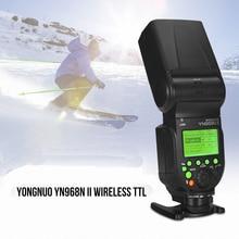 YONGNUO YN968N II Flash Speedlite inalámbrico TTL 1/8000s HSS luz LED 5600K para cámaras Nikon DSLR para YN622N YN560 inalámbrico