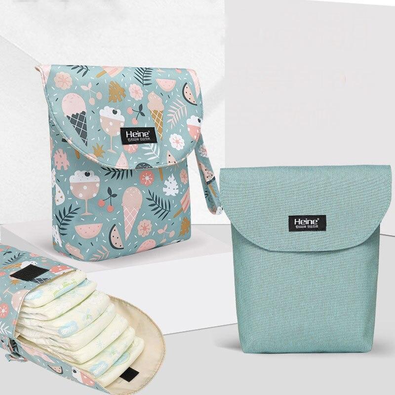 Baby Bag Waterproof Inner Portable Diaper Bag Multifunction Baby Wet Dry Travel Bag For Stroller Mini Size 23*22cm Hanimom