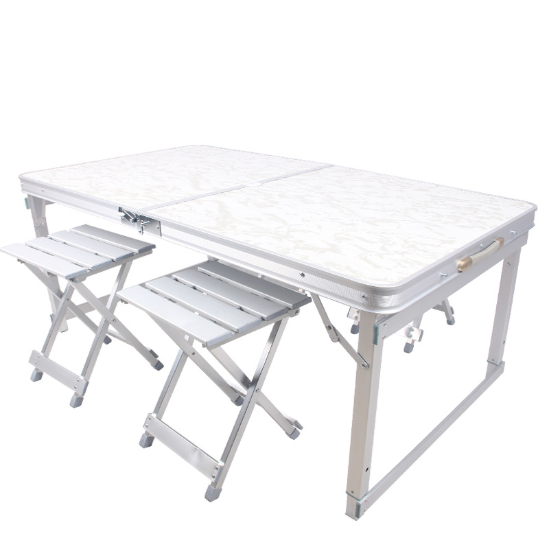 Wholesale A Large Amount Supply All Aluminum Alloy Folding Table Advertisement Desk Home Dining Table Economical Outdoor Folding