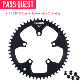 PASS QUEST 110BCD 5 paw Round Narrow Wide Chainring Road Bike ChainWheel 42T 44T 46T 48T 50T 52T Crankset Tooth For 3550 APEX