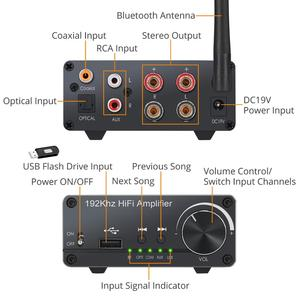 Image 3 - Prozor 100 واط + 100 واط مضخم الصوت مكبر كهربائي رقمي بصري محوري USB إلى التناظرية محول صوت بلوتوث 5.0 استقبال