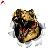 Volkrays Terrible 3D Dinosaur T-Rex Car Sticker Torn Metal Funny Automobiles Motorcycles Accessories PVC Decal 13cm*12cm cheap Aliauto The Whole Body Glue Sticker Stickers Animal Creative Stickers Not Packaged