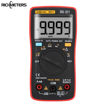 RM111 NCV True RMS Digital Multimeter Auto Range 9999 counts 100M Ohm Temperature Back light AC/DC Voltage Ammeter Current Meter