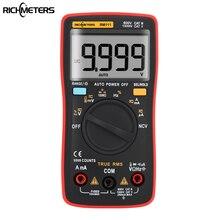 RM111 NCV de Verdadero VALOR EFICAZ Multímetro Digital de Rango Automático 9999 condes 100 M Ohm Temperatura de luz de Fondo AC/DC Amperímetro de tensión Medidor de Corriente
