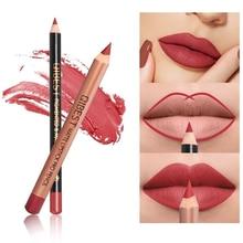 2Pcs/Set 15Color Nude Matte Lipstick Pen with Lip Liner Set