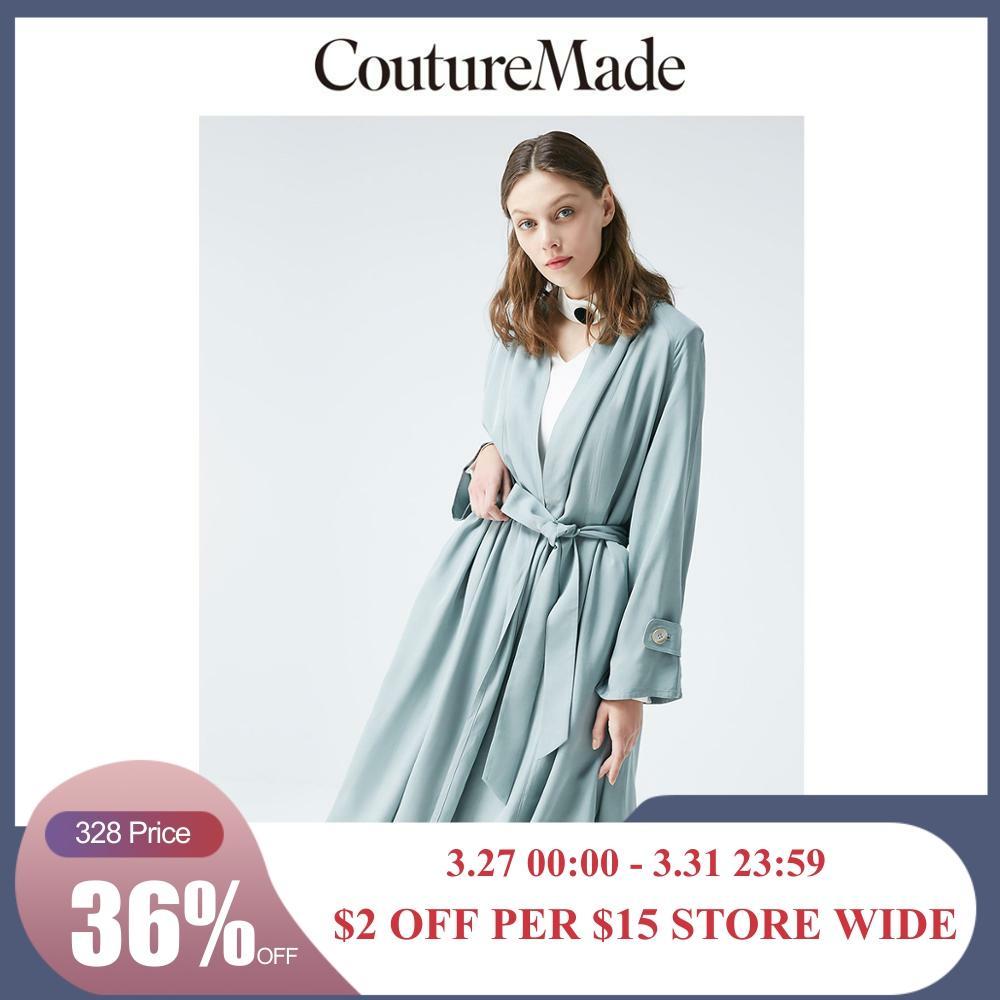 Vero Moda CoutureMade Women's Drapery Bathrobe Style Trench Coat  | 319221502