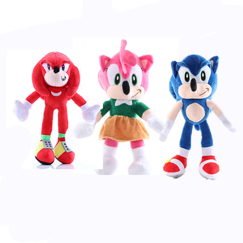 45Cm 6 Stijlen Anime Shadow Sonic Pluche Poppen Knuckles Sonic Plushie Pop Zachte Egel Knuffel Kinderen Verjaardag Kerst gift
