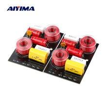 AIYIMA 2 uds 200W 2 vías Audio Altavoz columna Crossover agudos Bass Altavoz de alta baja y divisor de frecuencia para 4-6,5 pulgadas cuerno