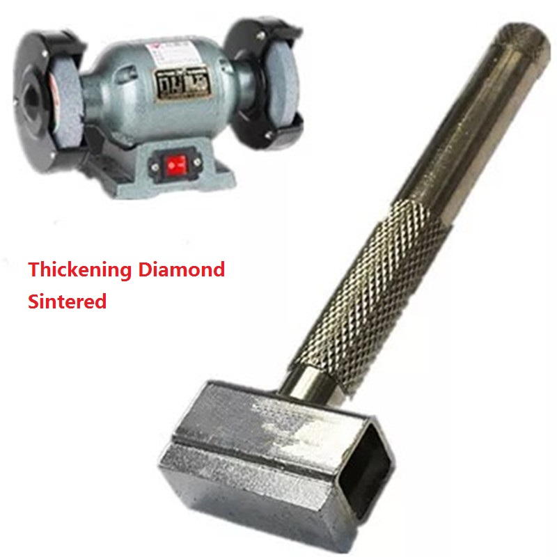 Thickening Diamond Sintered T Type Wheel Dresser Grinding Disc Sharpening Stone Handle Head Polishing Dressing Grinder Tools