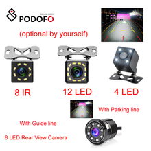 Podofo камера заднего вида Камера Универсальный использования парковочной Камера 4/8/12 Светодиодный 8IR Ночное видение Водонепроницаемый 170 Широкий формат HD Цвет изображения