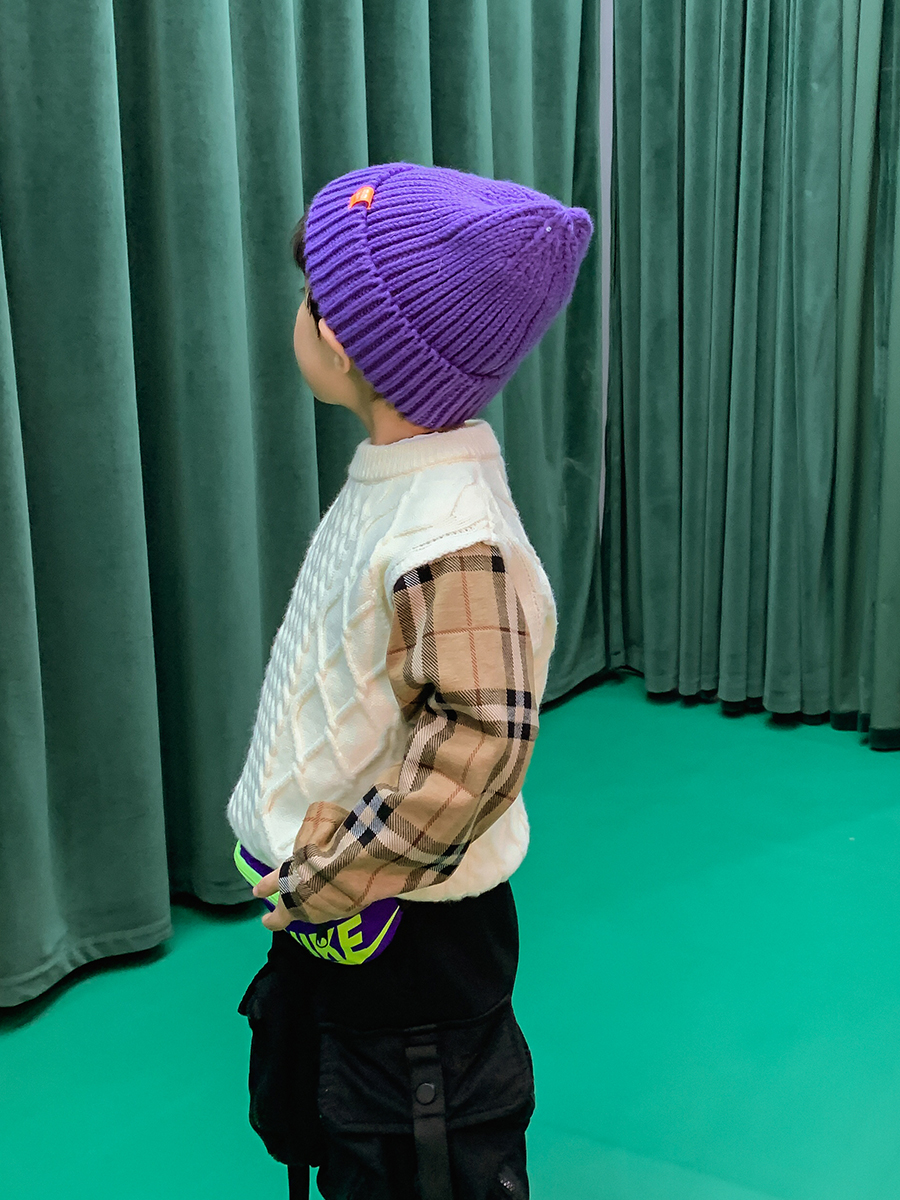 Boys' Knitted Sweater Pullover Autumn and Winter 2021 New Style Fashion Korean Style Autumn Top Children's Clothing 3