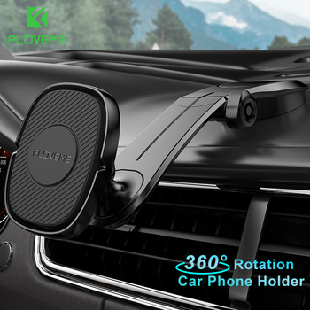цена на FLOVEME Magnetic Holder for Phone in Car Magnet Foldable Mobile Phone Holder Stand for iPhone Samsung Dashboard Car Mount Holder