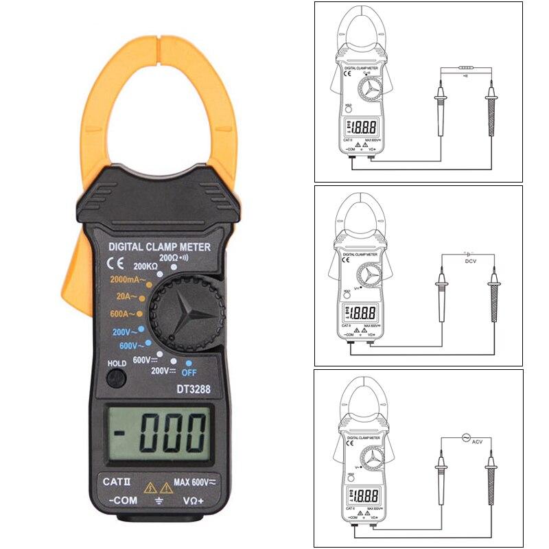 Ручной цифровой Ампер клещи измеритель тока Токовые клещи Вольтметр Амперметр мультиметр точность измерения тестер|Измерители тока|   | АлиЭкспресс