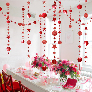 2020 Navidad Decor 4M Twinkle Star Paper Garland Hanging Ornaments Merry Christmas Decorations for Home New Year Party Supplies