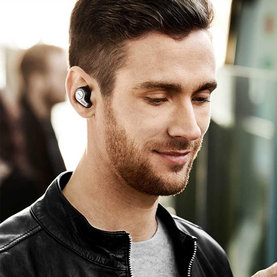 جابرا النخبة 65t سماعة أذن أصلية لا سلكية TWS بلوتوث 5.0 سماعة الرياضة سماعات إلغاء الضوضاء مقاوم للماء سماعة رأس مزودة بميكروفون