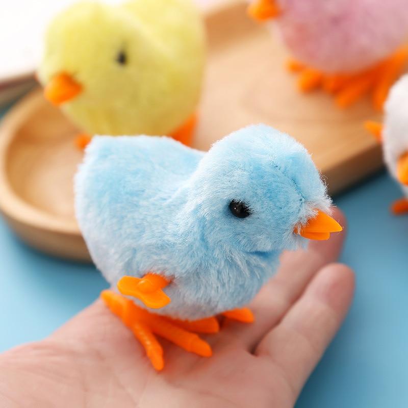 1 шт. милая плюшевая ветряная курица, Детская развивающая игрушка, заводные прыжки, ходьба, цыплята, игрушки для детского подарка, случайный ...
