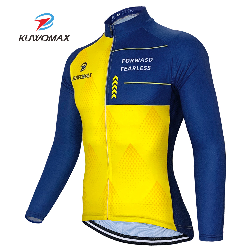 2020 NEW Men Cycling Jersey Long Sleeve Bike Tops Long Sleeve Cycling Jersey Quick Dry Bike Racing Cycling Clothing Clothes. image