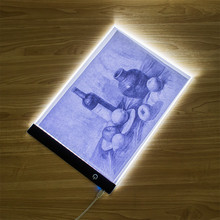 電子アートグラフィック絵画ライティングテーブル A4 描画タブレットデジタルグラフィックスパッド usb led ライトボックストレースコピーボード