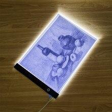 אלקטרוני אמנות גרפי ציור כתיבה שולחן A4 ציור לוח דיגיטלי גרפיקה Pad USB LED אור תיבת התחקות עותק לוח