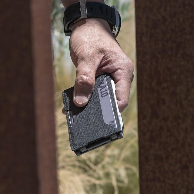 2021 New Fashion RFID Metal Cardholder Wallet Men Business Badge Credit Card Holder Small Aviator Minimalist Wallet for Card Man 6