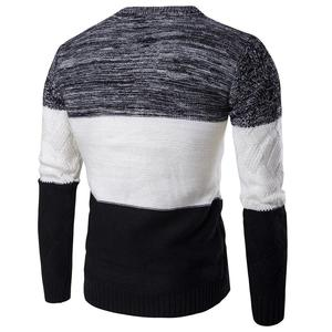 Casual Long Sleeve Autumn Winter Sweater Men Korean Style Slim Knitted Blue Sweater Pullover Jumper