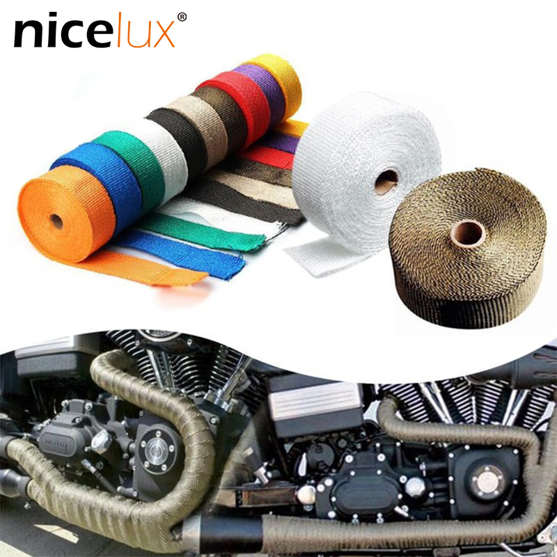 5meter Colorful Motorcycle Modified Exhaust Pipe Width 25 Mm Insulation Cotton Coke Head Cloth Banana Insulation Tape For DIY