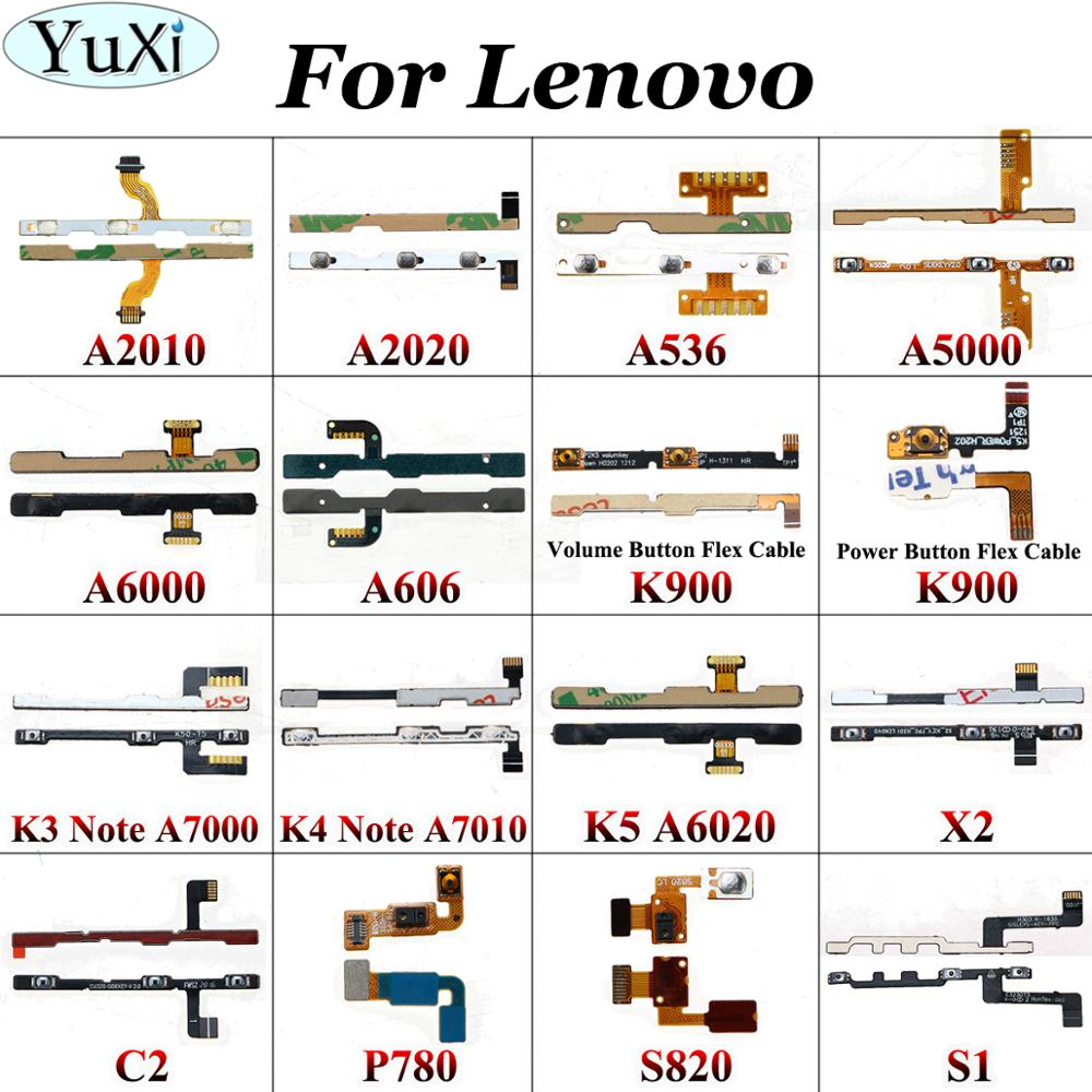 YuXi For <font><b>Lenovo</b></font> A2010 A2020 A536 A5000 A6000 A606 K900 <font><b>A7000</b></font> K3 K4 K5 note Power <font><b>Button</b></font> Switch <font><b>Volume</b></font> Mute On / Off Flex Cable image