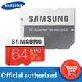 Original SAMSUNG Micro SD karte 128GB Klasse 10 Speicher Karte EVO + EVO Plus microSD 32GB 64GB 256GB 512GB TF Karte cartao de memoria