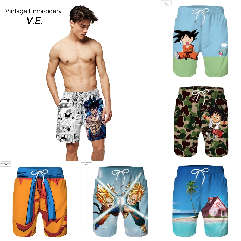 Fashion 3D Print Shorts Men Casual Beach Pants Hot Summer Mens Shorts Elastic Waist Leisure Trousers