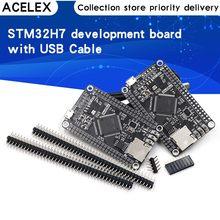 Stm32h750vbt6 stm32h743vit6 placa de desenvolvimento stm32h7 placa de sistema stm32 placa de núcleo m7 tft interface com cabo usb