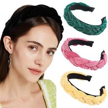 Haimeikang fascia intrecciata tinta unita torsione coreana fascia per capelli per donna ragazza accessori moda per capelli copricapo caldo