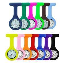 Silicone enfermeira relógio pino broche relógio de bolso