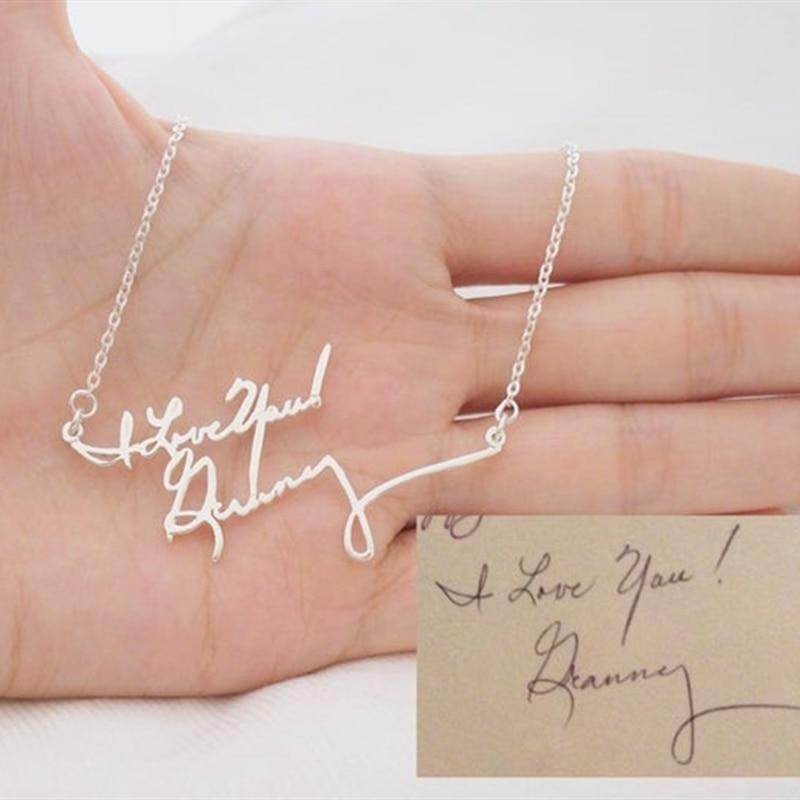 Doble capa letra collares de nombre para las mujeres de la joyería de la muchacha de la firma collar con colgante personalizado regalos de la amistad