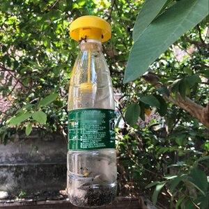 Image 3 - Praktyczna pułapka na muchy z owocami zabójca plastikowa pułapka na Drosophila lep na muchy z atraktantem sad warzywny zwalczanie szkodników ogród owad