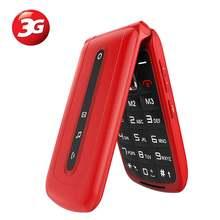 Мобильный телефон с 3g откидной крышкой для пожилых людей большой