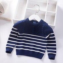 Свитер для младенцев пуловер для мальчиков Повседневный дизайнерский Хлопковый вязаный свитер для малышей Одежда для детей Топы для младенцев