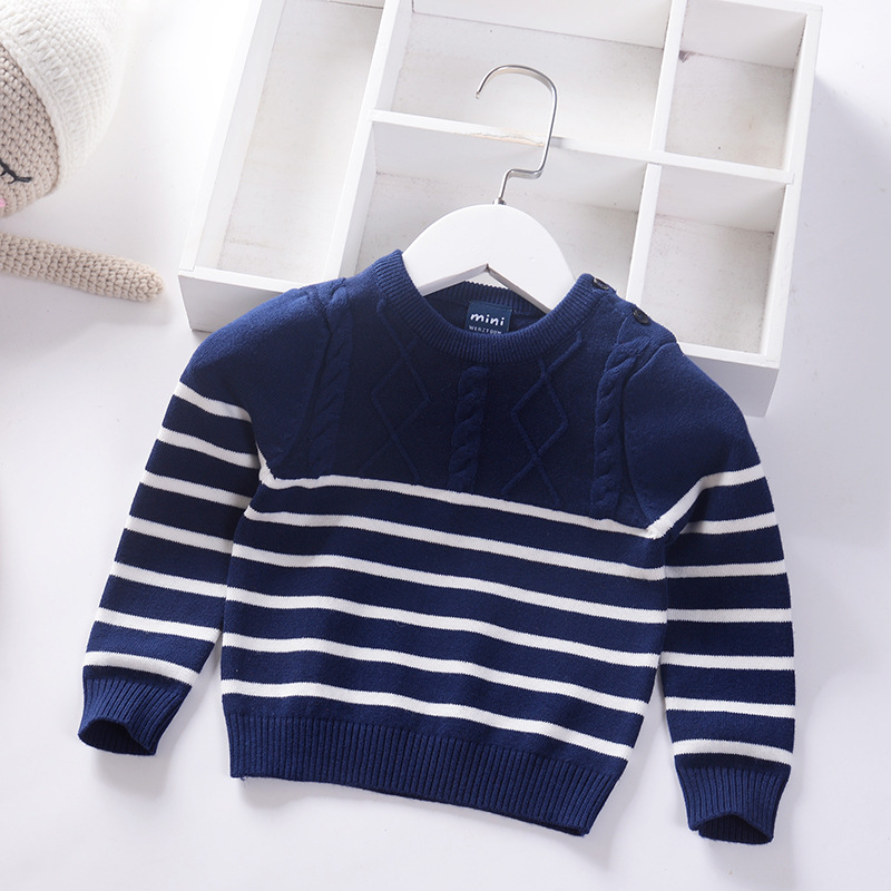 Infant Sweater Boys Pullover 2019 Casual Design Cotton Knit Toddler Sweaters Children Clothing Tops
