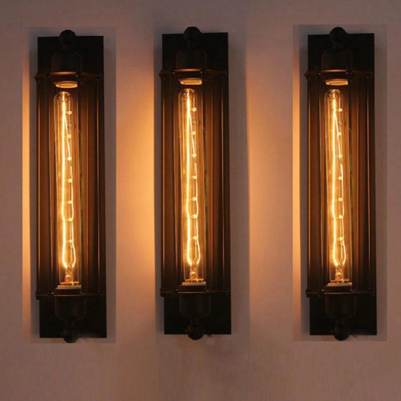E27 Decorative Corridor Bar Wall Lamp Easy Install Restaurant Indoor Cafe Vintage Iron Structure Retro Industrial Hotel