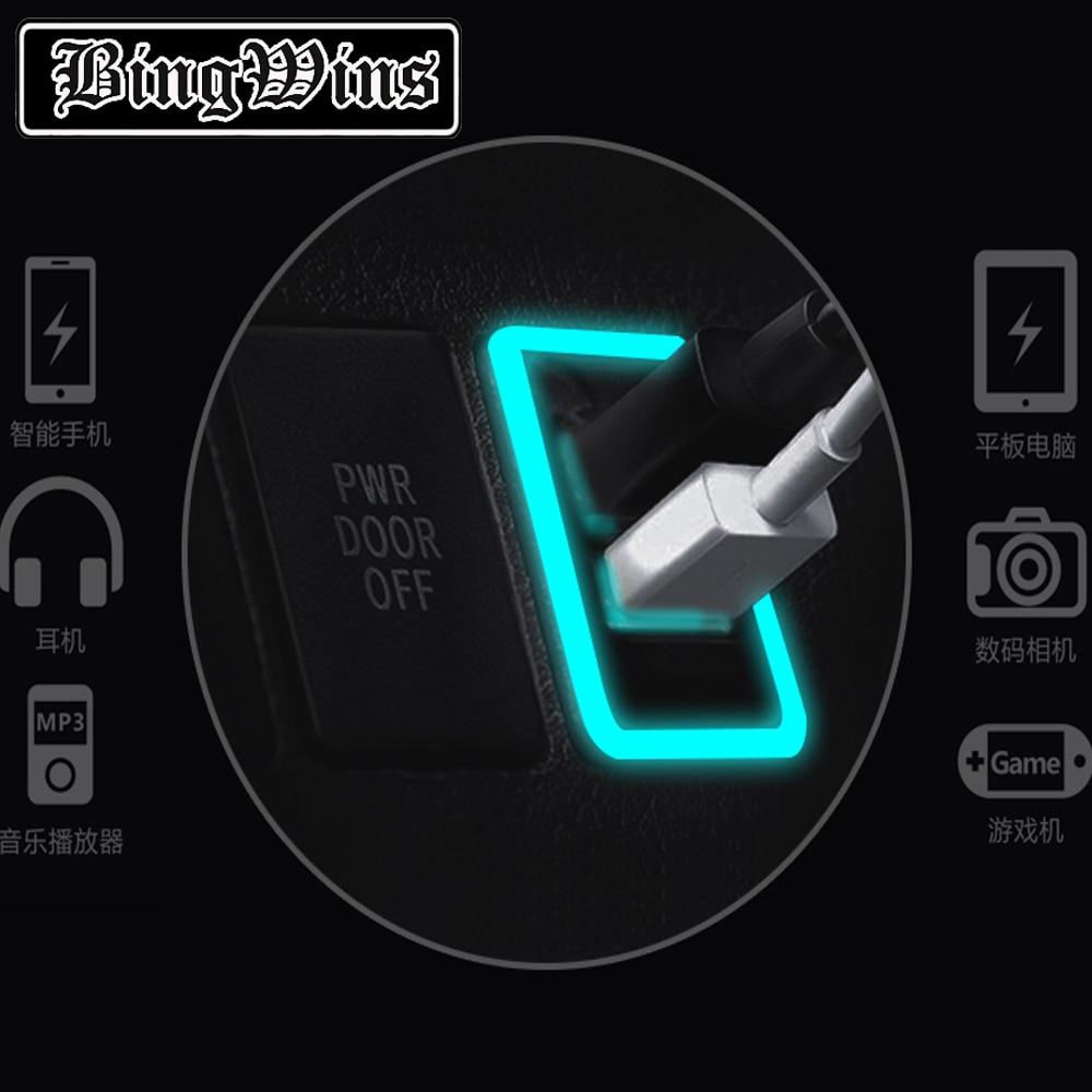 Bingwins Per Toyota QC3.0 Quickcharge Caricabatteria Da Auto Doppio USB Del Telefono PDA DVR Adattatore di Plug & Play Cavo - 2