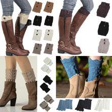 Boot Cuffs Legging Leg-Warmers Crochet Knit Winter Women 1-Pair Short Toppers-Boot-Ankle-Gaiters