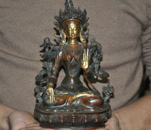 wedding decoration Tibet Buddhism bronze 24k gold Tara Kwan-yin Guanyin goddess Bodhisattva Statue(China)