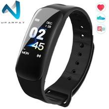 Wearpai C1Plus Smart Watch Blood Pressure Fitness Tracker Heart Rate Monitor Bracelet Black Men for Sport Climbing