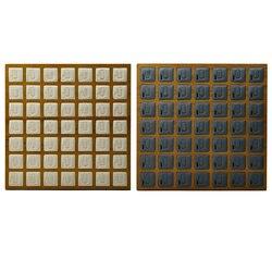 49 شبكات خشبية خاتم أقراط ترصيع صينية عرض واجهة منظم المجوهرات ، 13x13x0.7 بوصة
