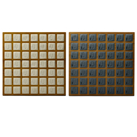 49 Grids Wooden Ring Earrings Studs Tray Showcase Display Jewelry Organizer, 13x13x0.7inch