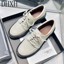 New British Style Small Leather Shoes Female Soft L